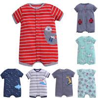 Baby Kids Boy Girl Infant Romper Jumpsuit Bodysuit Cartoon Outfits Clothes 0-24M
