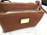 CALVIN KLEIN LUG Clutch in brown saffiano leather  H7GE15RA handbag