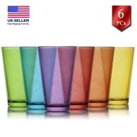 Juice and Water Drinking Glasses Set of 6, Highball Kitchen Glassware Set, 11 oz