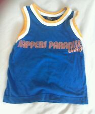 Boys blue/orange vest top age 3 years