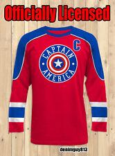 NWT! Marvel Comics CAPTAIN AMERICA Hockey Jersey Mens Avengers Shirt Size Small