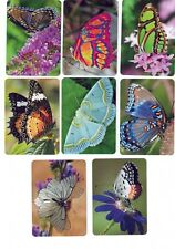 FANTASTIC BUTTERFLIES #2  (8)  swap/playing cards