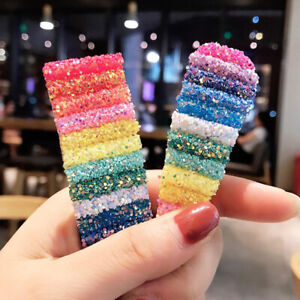 Glitter Sequins Rainbow BB Hairpin Hair Clip Barrette Fashion Hair Accessories