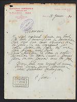 "PARIS (II°) RESTAURANT ""ADRIENNES"" & AMERICAN BAR en 1930"