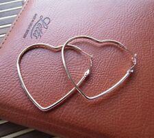 Orecchini cuore cerchio in acciaio 316L Argento/Rosegold  Medio - Moda novità