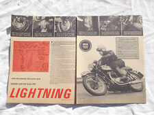 BSA A65 Lightning Motorcycle Original Article removed from a Magazine