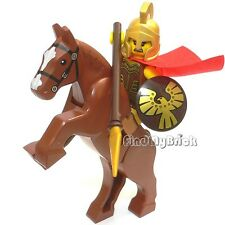 M303h Lego CUSTOM Spartan Rohan Warrior Roman Soldier Minifigure & Horse - NEW