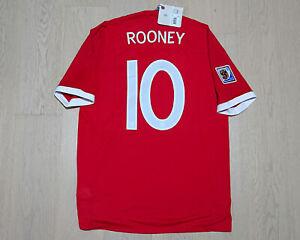 2010 England Away Shirt S/S (BNWT) size 42 #10 Wayne Rooney