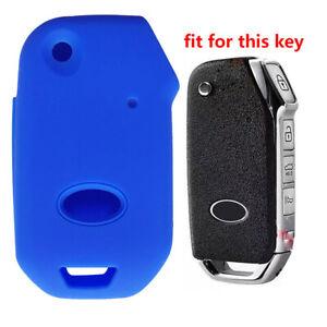 Fit KIA Forte Sportage Seltos 4 Button Smart Remote Key Fob Silicone Case Cover
