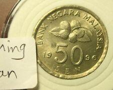 Malaysia 50 Sen 1996 semi keydate UNC++