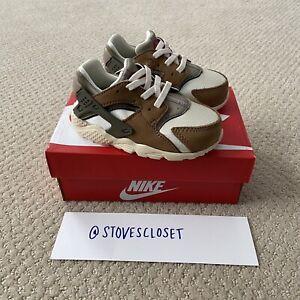 Stussy x Nike Air Huarache TD Desert Oak Infant Size 7C DH3323-200