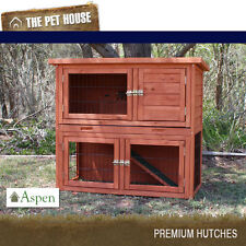 NEW Aspen Double Storey Wood Hutch for rabbits guinea pigs