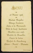Antike Menükarte Frankreich Maison St-Joseph 1906 France Dinner Menu Card Y-2332