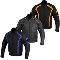Mens Motorbike Jacket CE Approved Armour Textile Cordura Summer Biker Jackets