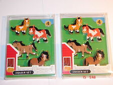 PONY CLUB HORSE  NOVELTY ERASER RUBBERS X 2  packets 8 erasers