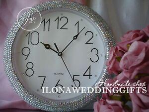 Swarovski Rhinestones Strass Bling Wall Clock Unique Wedding Gift Idea Sparkle