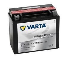 Varta Powersports AGM ytx20l-4 ytx20l-bs Batería de la Motocicleta 18ah