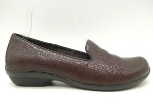 Dansko Brown Pebble Print Leather Driving Loafers Shoes Women's 37 / 6.5 - 7