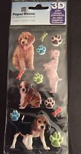 """Paper House Puffy Stickers 3""""X6.35""""-Puppies"""