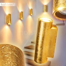 Up Down Wand Lampen Keramik goldfarben Wohn Schlaf Flur Dielen Zimmer Leuchten