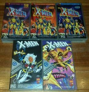 5 x Marvel 90's X-Men Cartoon vol 1-3 + 2 Special Edition Dark Phoenix VHS Tape