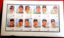 N Y YANKEE DON MATTINGLY AUTOGRAPHED UNCUT SHEET POST CARD SET MATTED