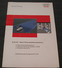 Audi Q7 Fahrerassistent Systeme Spurwechselassistent  Rückfahrkamera   SSP 375