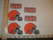 6 Cleveland Browns Fabric Applique Iron On Ons