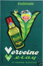 VERVEINE DU VELAY -AUTRE  VERSION AFFICHE ANNÉES 60