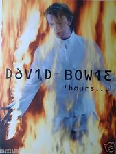 "DAVID BOWIE ""HOURS"" U.S. PROMO POSTER - Glam Art Rock Music"