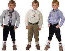 sportliche Kniebundhose Lederhose naturgrau  Kinder