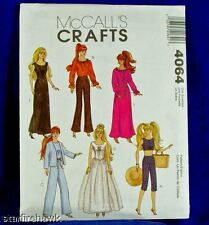 McCall's Pattern 4064 11.5in Barbie Doll 6 Outfits NEW!