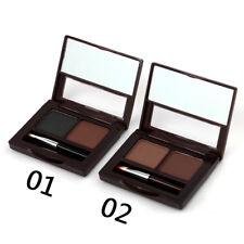 2 Eyeliner Pencil Waterproof Natural 2 Color Eyebrow Powder Palette Belt Brush