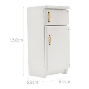 1/12 Scale Dollhouse Miniature Furniture Refrigerator Dining Room Decor