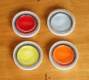 Set of 4 Vintage NIKON NIKKOR 62mm Lens Filters