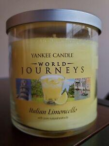 "Yankee Candle Italian Limoncello ""Lemon""  World Journeys 2 Wick Medium Tumbler"