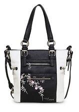 Desigual Bols Mini Argentina Blossom Umhängetasche Handtasche  Negro Schwarz