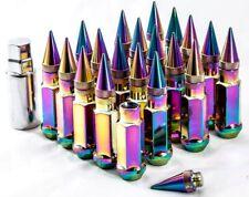 """20"""" 12X1.25 Aodhan XT92 SPIKED Lug Nuts Neo Chrome FIT INFINITI G25 G35 G35 G37"""