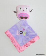 Circo Purple Pink Owl Baby Security Blanket LOVE #1484T Target Nunu P12