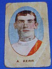 1910 Sniders & Abrahams Standard Cigarettes AFL Football VFL footy Card A KERR