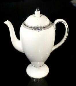 Beautiful Wedgwood Amherst Platinum Trim Coffee Pot