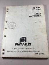 Fiat Allis 345 B Wheel Loader Parts Catalog