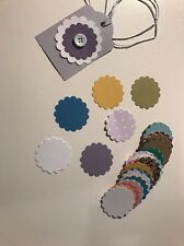 "Scrapbooking Die cuts Punch  Mixed "" Flower / Scallop Shape 3.5cm  "" X 50"