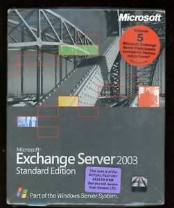 Factory Sealed - 312-02613 Microsoft Windows Exchange Server 2003 Standard 5 CAL