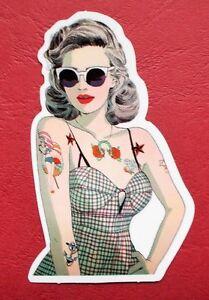 "Sticker Decal Vintage "" Tattoo Beauty "" Gloss-Optics - Stickerbomb Laptop"
