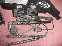 Yogi Black Print Hair Straightners & Wand, Carry Case, Heat Glove & Box