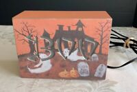 Vintage Style Halloween BOO Lighted Sign On/ Off Switch Tabletop Decor
