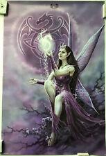 Anne Stokes Purple Fairy And Dragons Fantasy Rare Poster