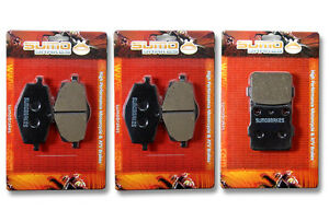 Yamaha Front + Rear Brake Pads Banshee YFZ 350 (1987-1989) YFM Warrior (87-88)