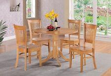 East West Furniture Dlva5 Oak W 5 Piece Kitchen Nook Dining Table Set